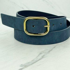 Gap Blue Sueded Vegan Faux Leather Belt Medium